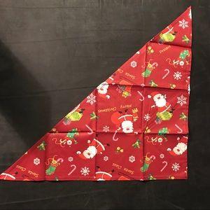 Other - Christmas print cat bandana